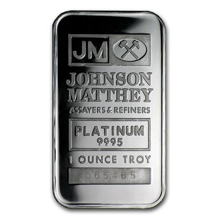 1 Oz Platinum Bar Johnson Matthey 9995 Fine No Assay