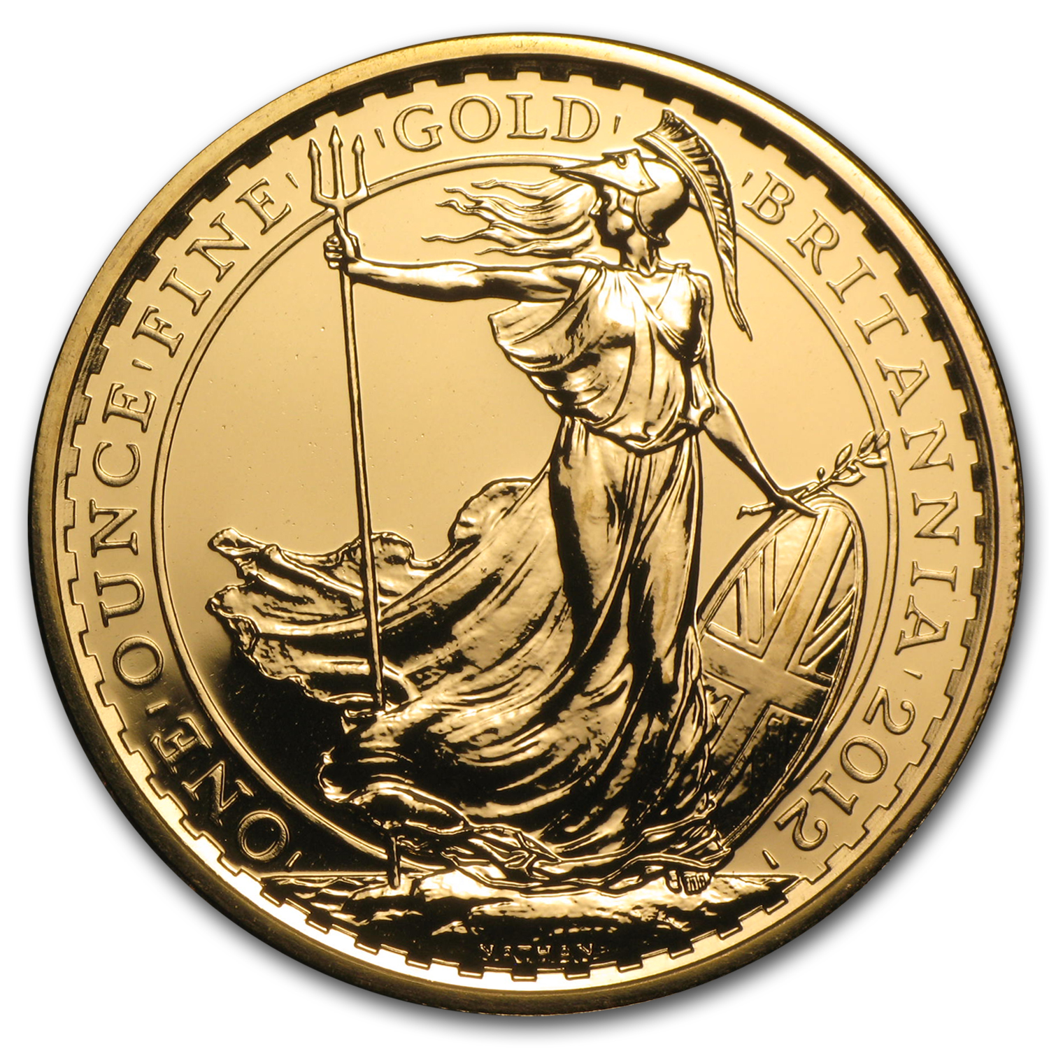 2012 1 oz Gold Britannia BU (25th Anniv)