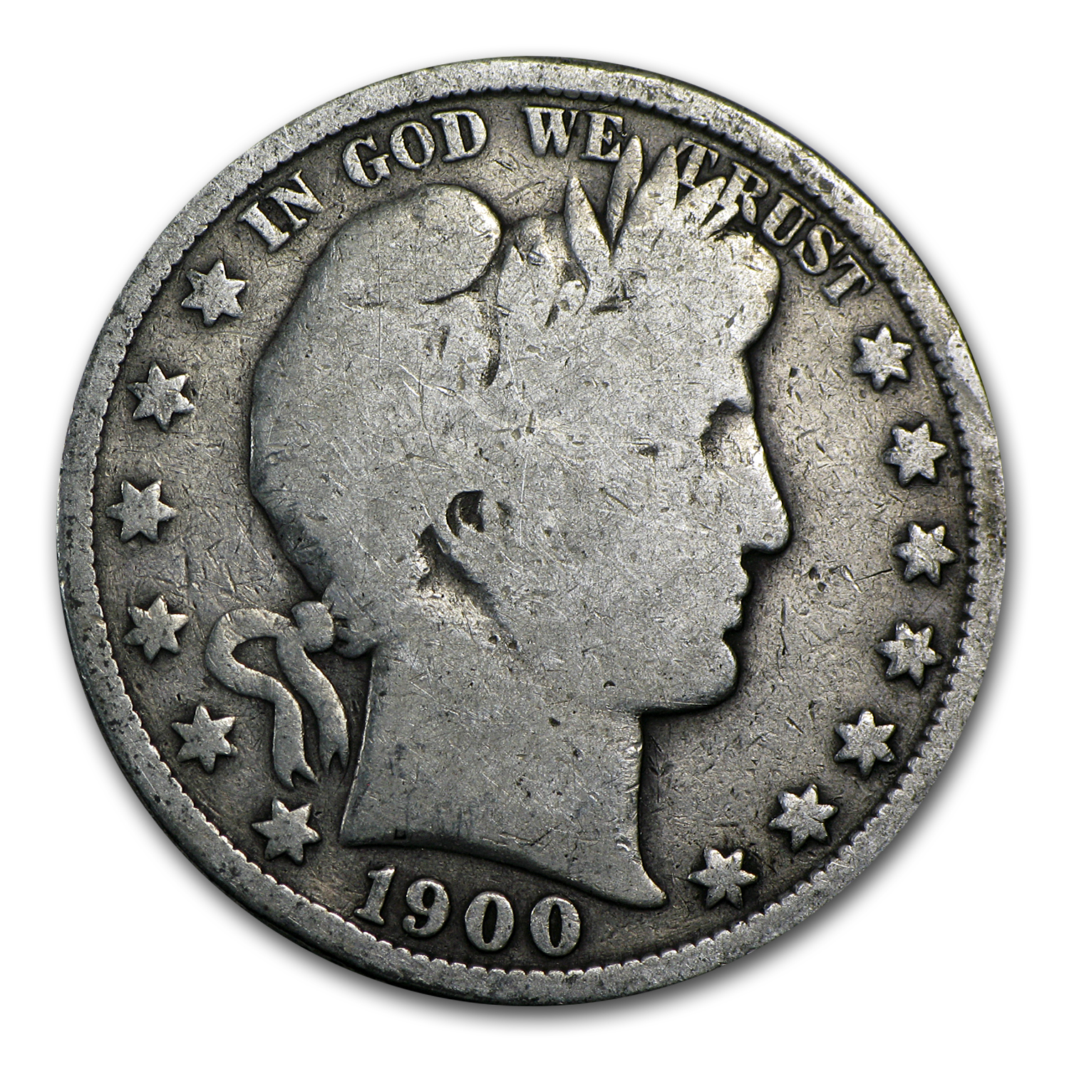 1892-1900 Barber Half Dollar Roll (20ct) - Avg Circ