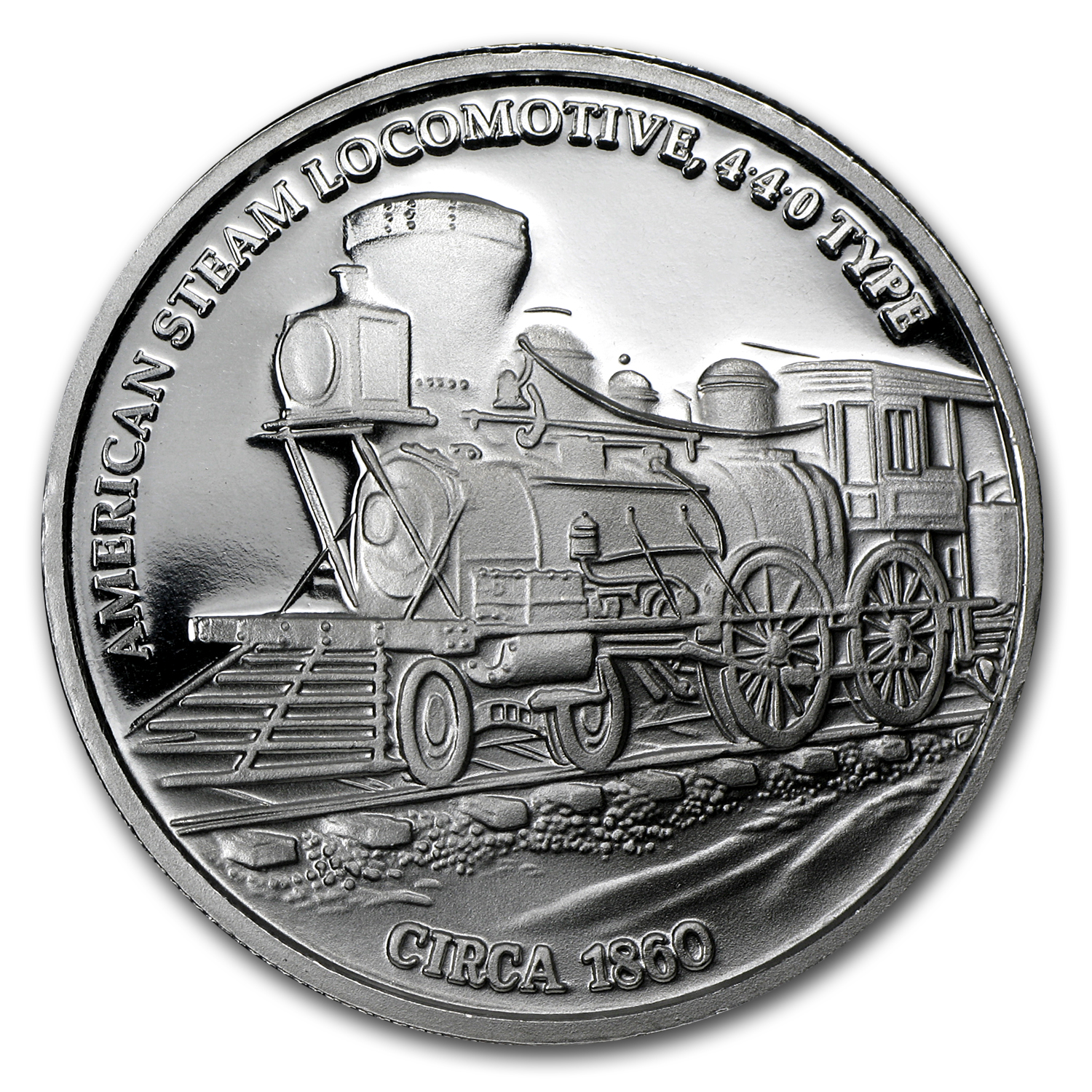 (5) 1 oz Silver Rounds - Steam Locomotive (5 pc Set)