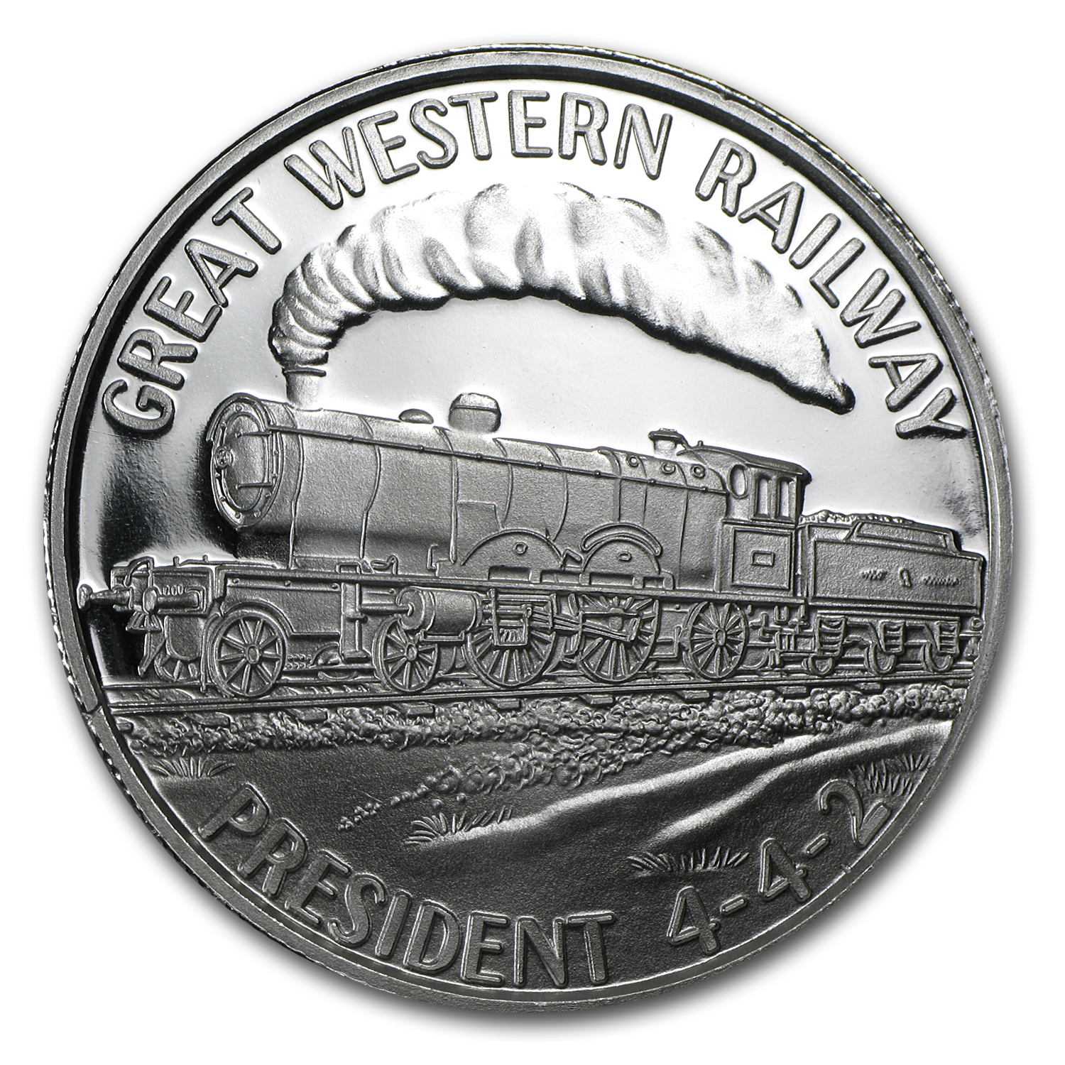 (5) 1 oz Silver Round - Steam Locomotive (5 pc Set)