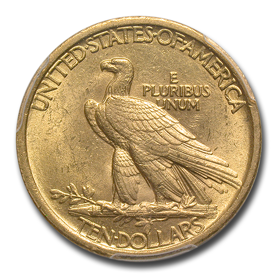 1907 $10 Indian Gold Eagle - No Motto - MS-62 PCGS