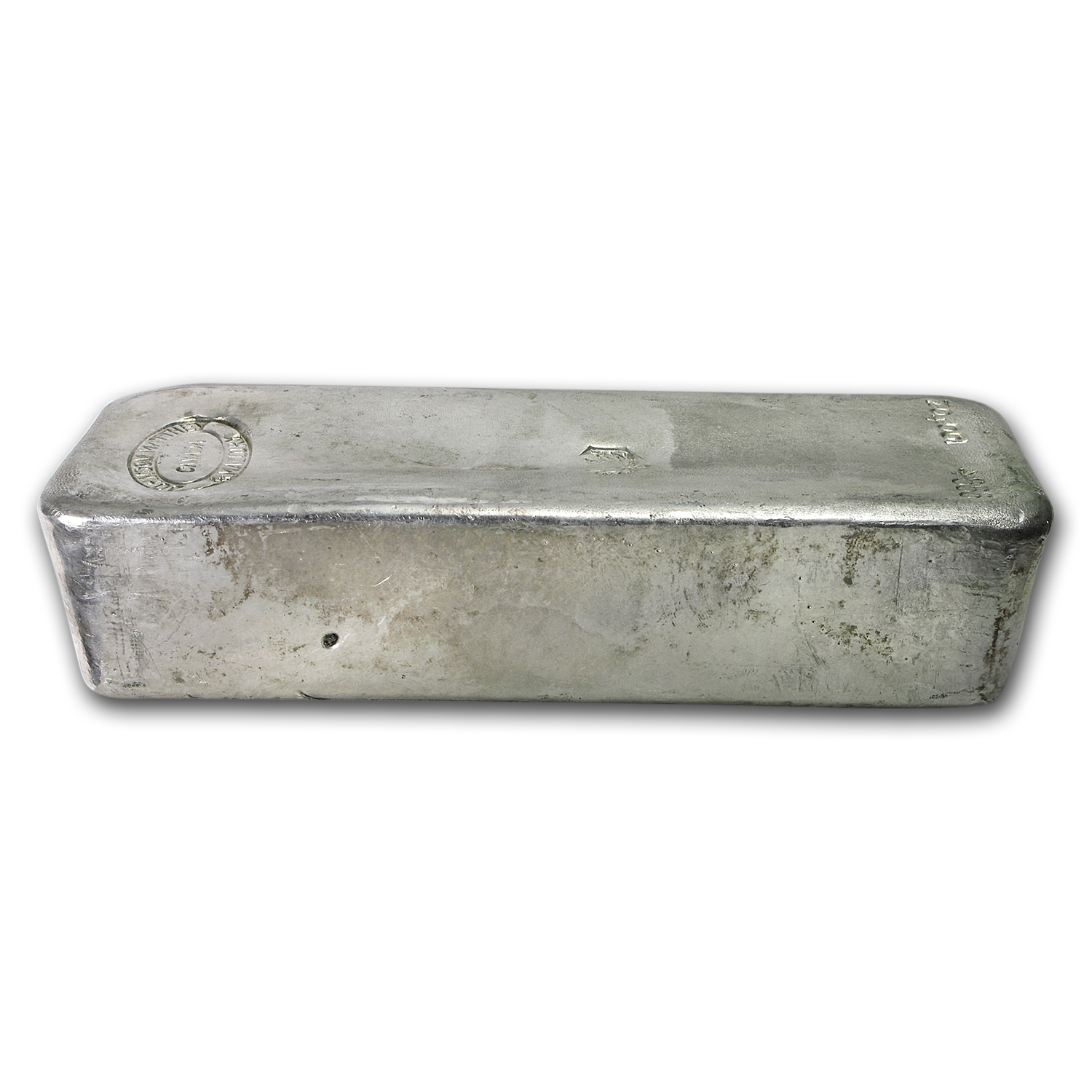 100 oz Silver Bar - Johnson Matthey & Mallory (Maple Leaf)