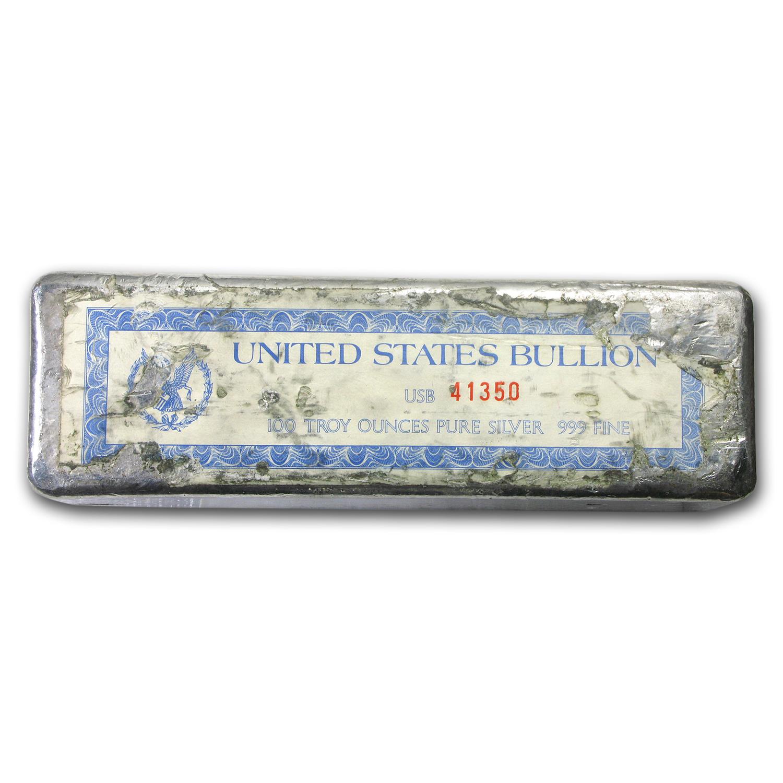 100 Oz Silver Bar Johnson Matthey Amp Mallory Maple Leaf