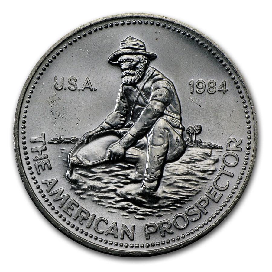 1 Oz Silver Round Engelhard Prospector 1984 Eagle 1