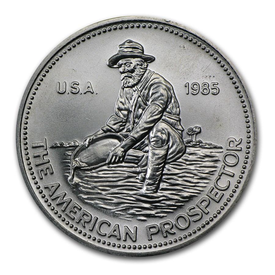 1 Oz Silver Round Engelhard Prospector 1985 Eagle 1