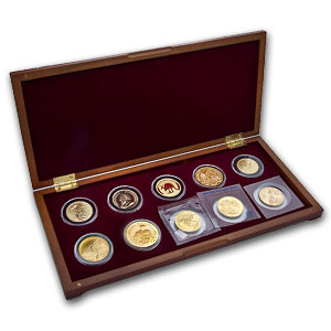 2011 1/10 oz 10-Coin Around the World Gold Bullion Set
