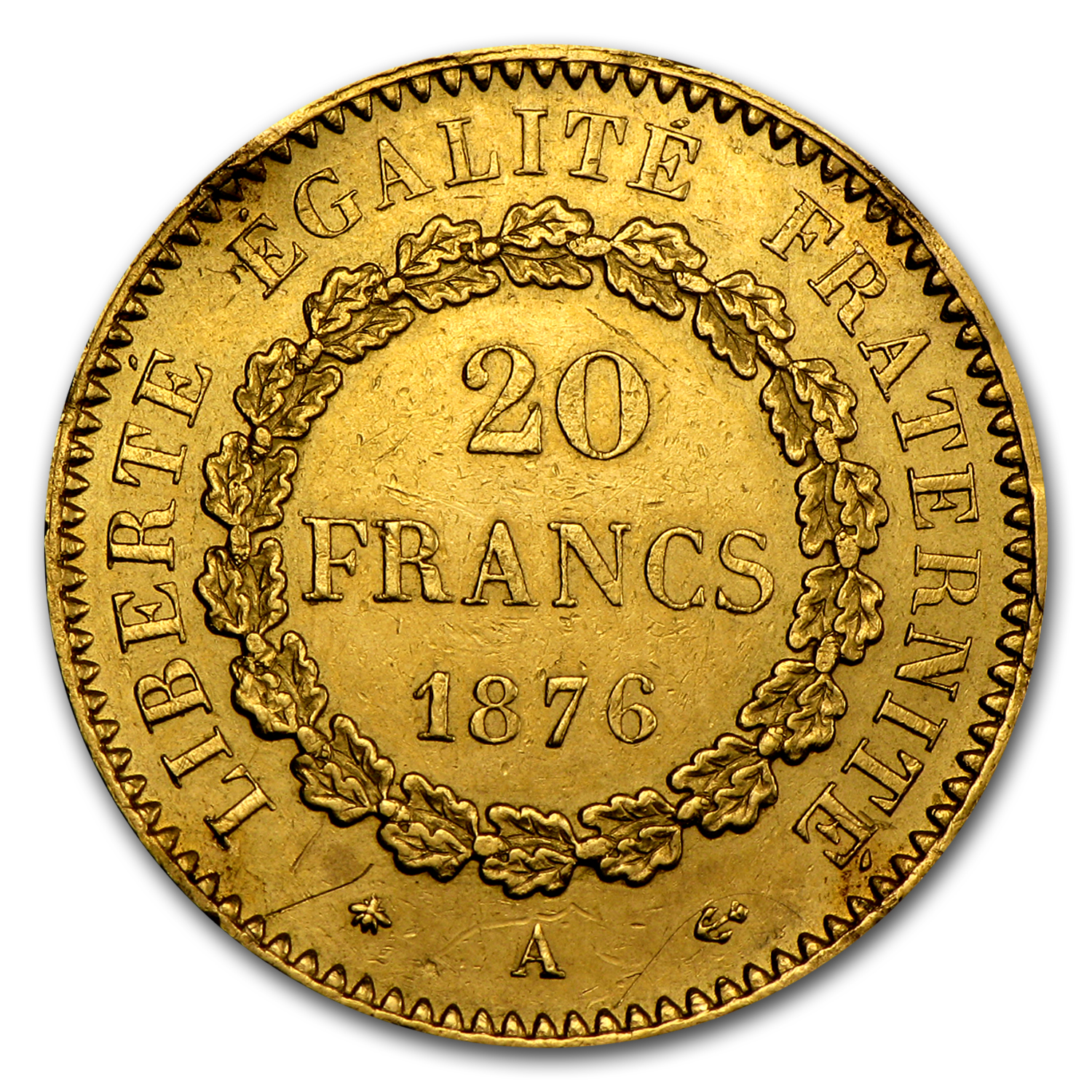 France Gold 20 Francs (Lucky Angel) (Scruffy)