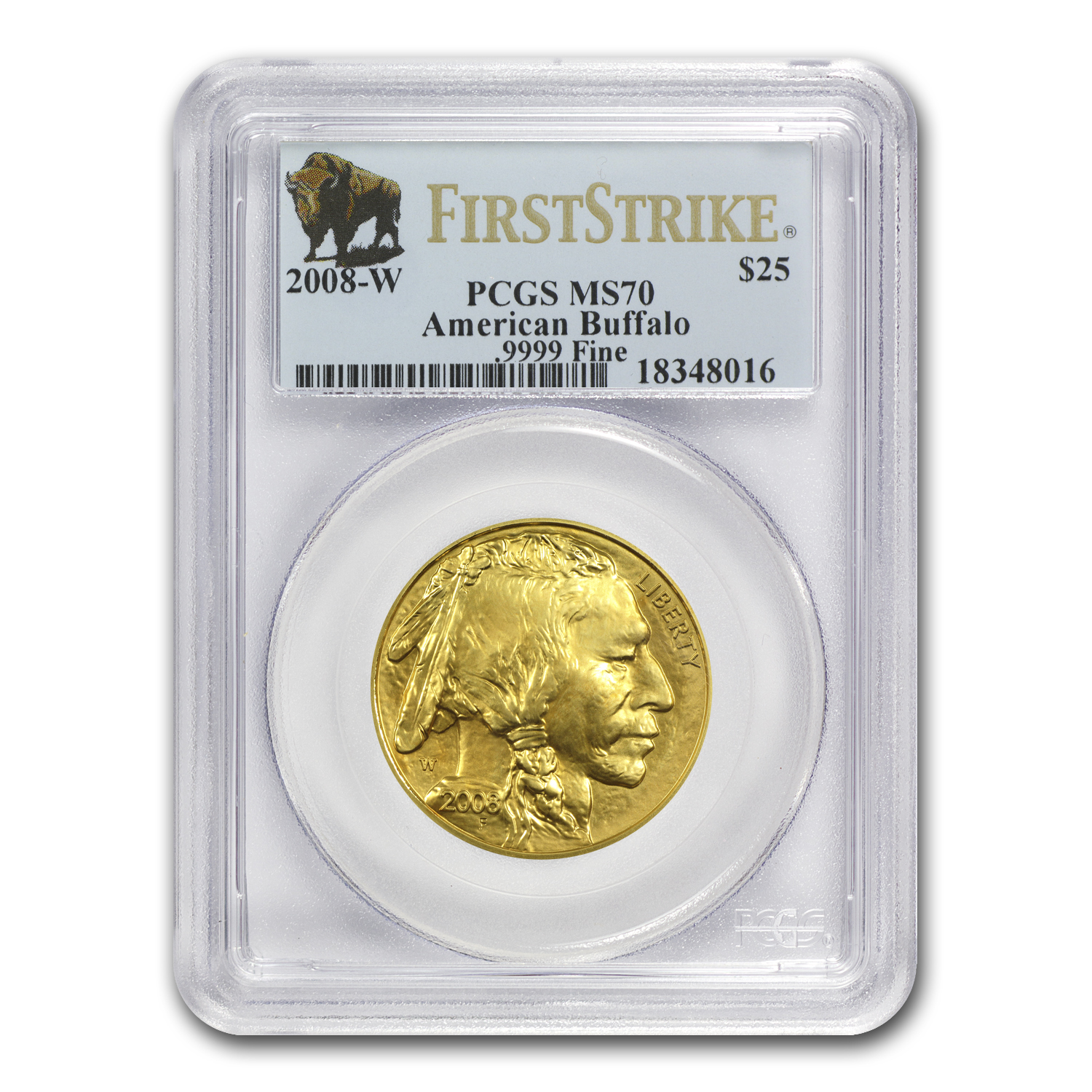 2008-W 4-Coin Gold Buffalo Set MS-70 PCGS (FS, Registry Set)