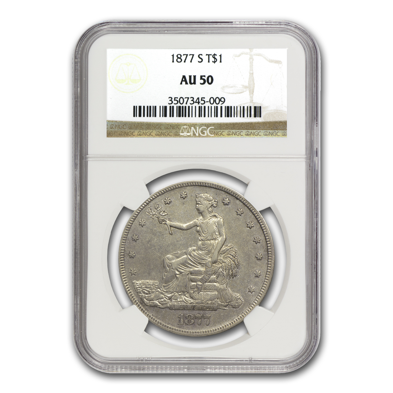 1877-S Trade Dollar Almost Uncirculated-50 NGC