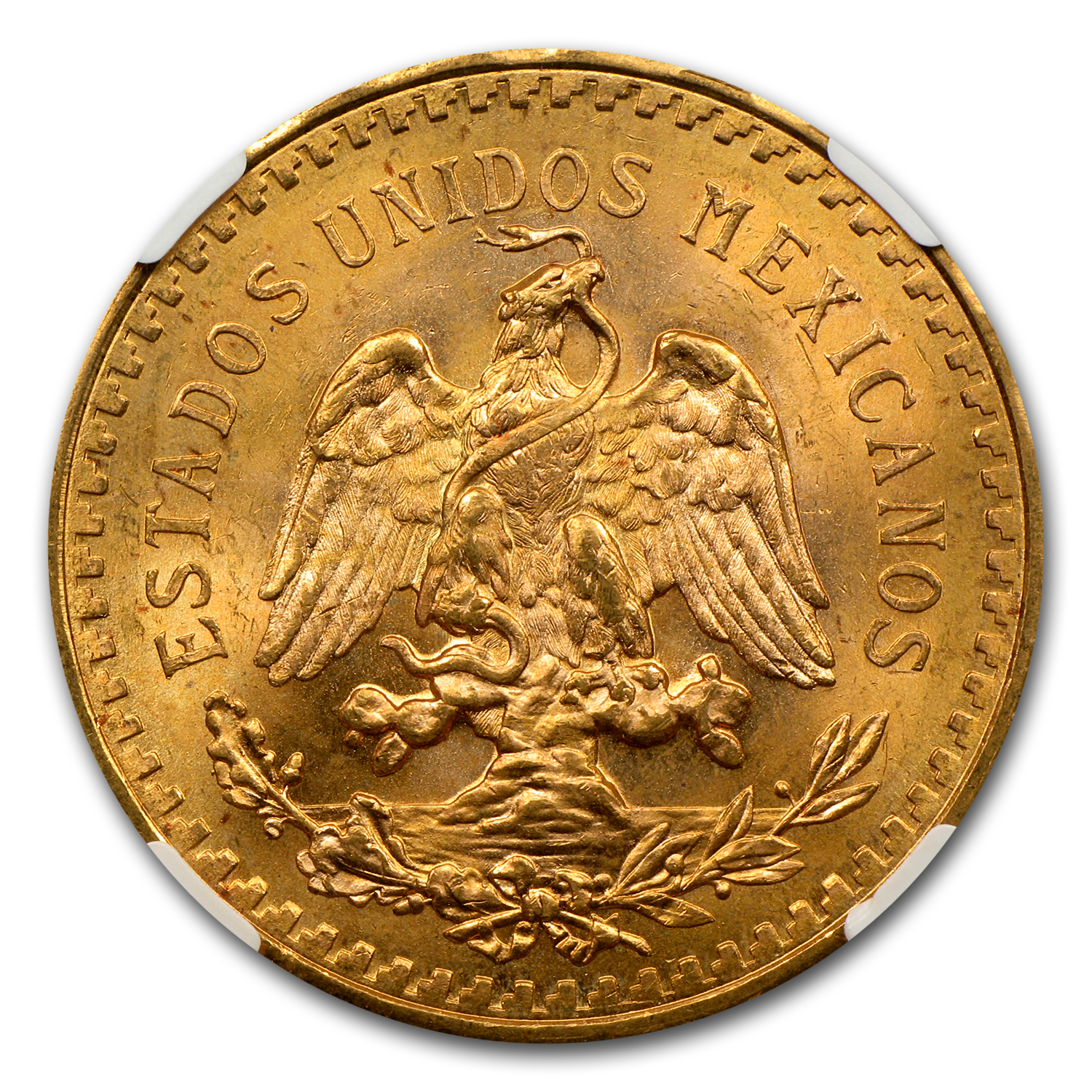 Mexico 1943 50 Pesos Gold MS-64 NGC