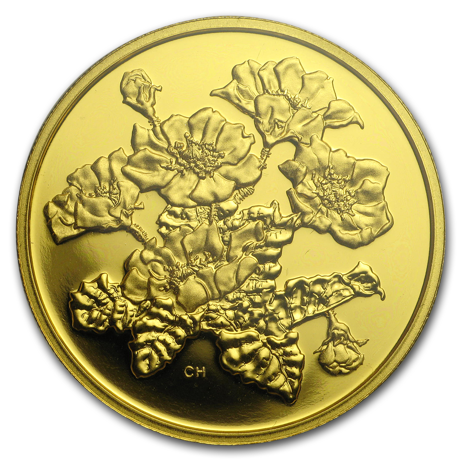 2011 1.12oz .99999 Gold Canadian $350 Mountain Avens(W/Box & COA)