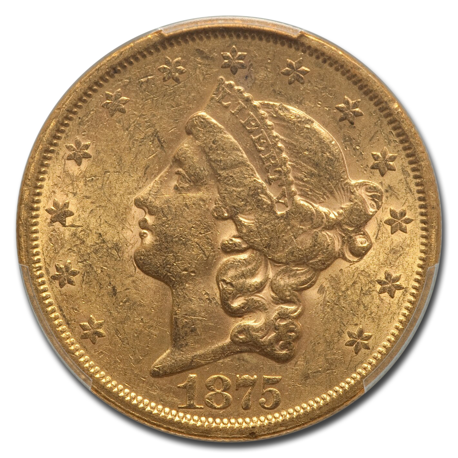 1875-S $20 Liberty Gold Double Eagle AU-58 PCGS
