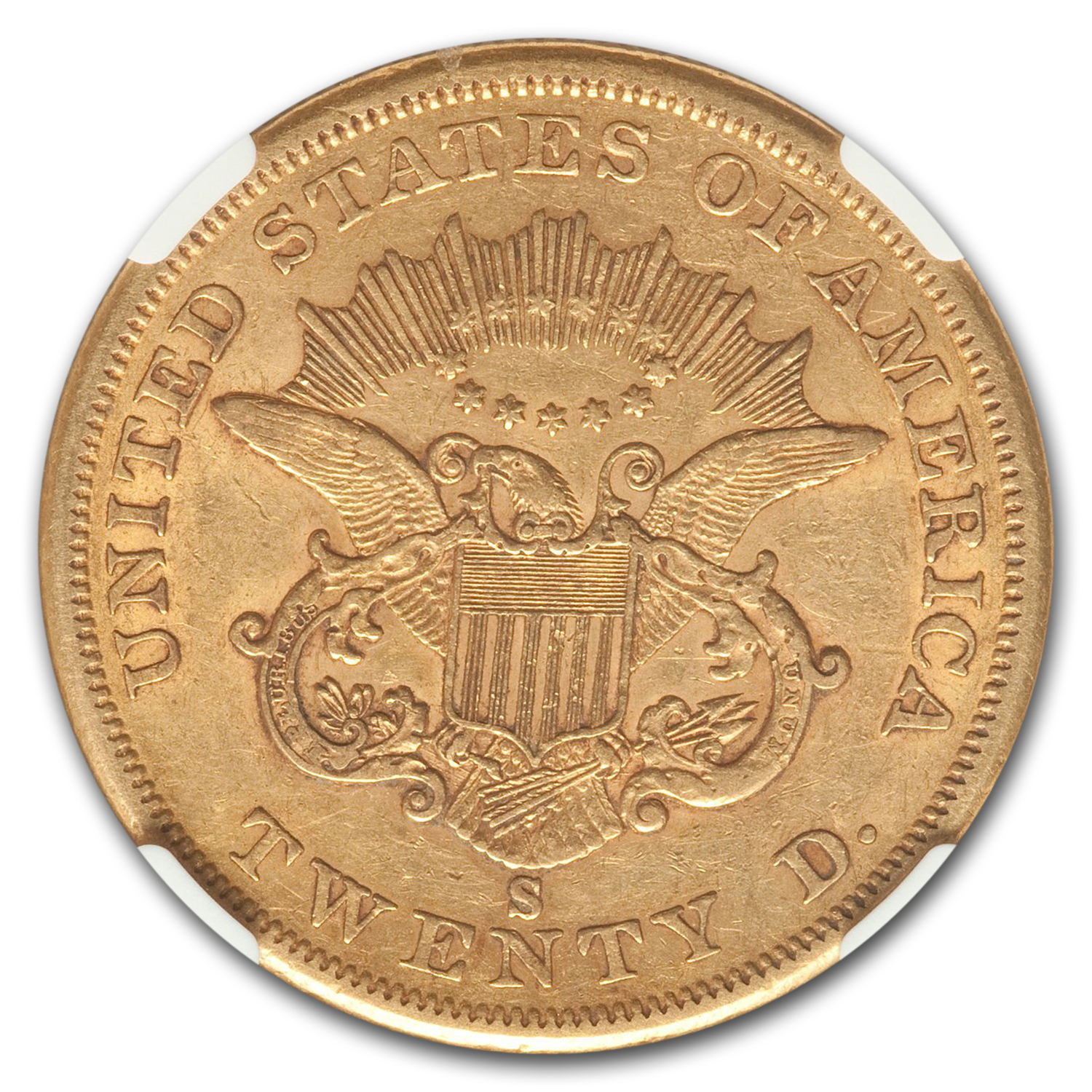 1859-S $20 Liberty Gold Double Eagle XF-45 NGC