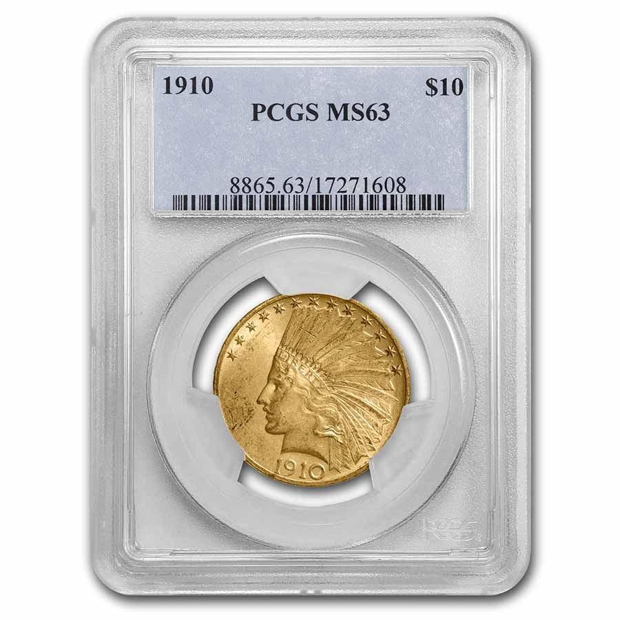 1910 $10 Indian Gold Eagle MS-63 PCGS