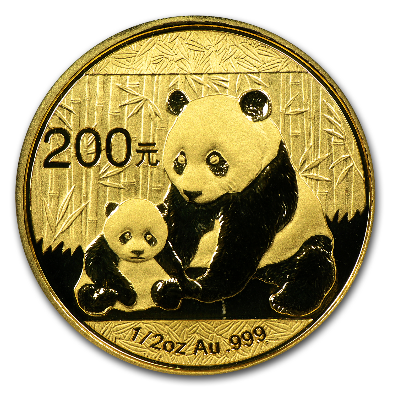2012 China 1/2 oz Gold Panda MS-70 PCGS