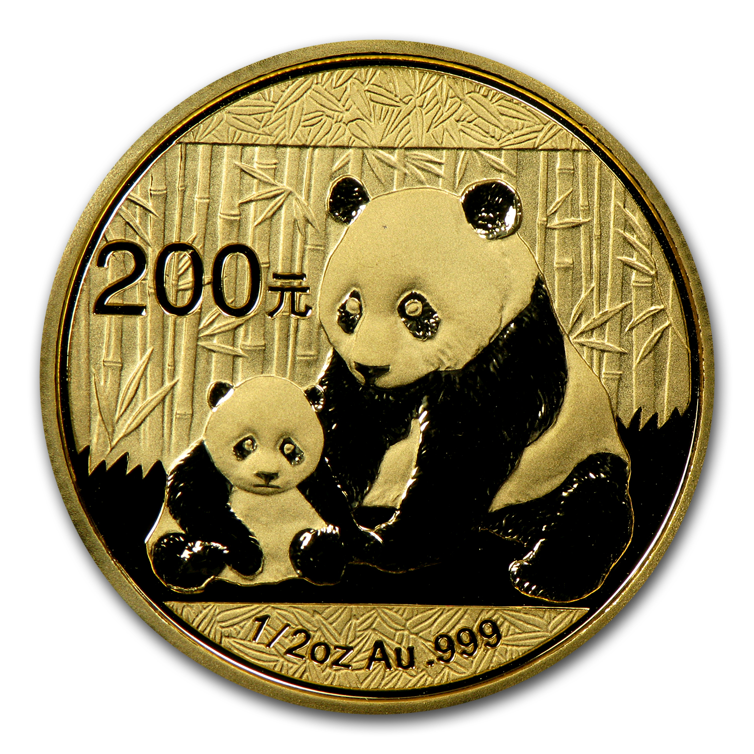 2012 China 1/2 oz Gold Panda BU (Not Sealed)