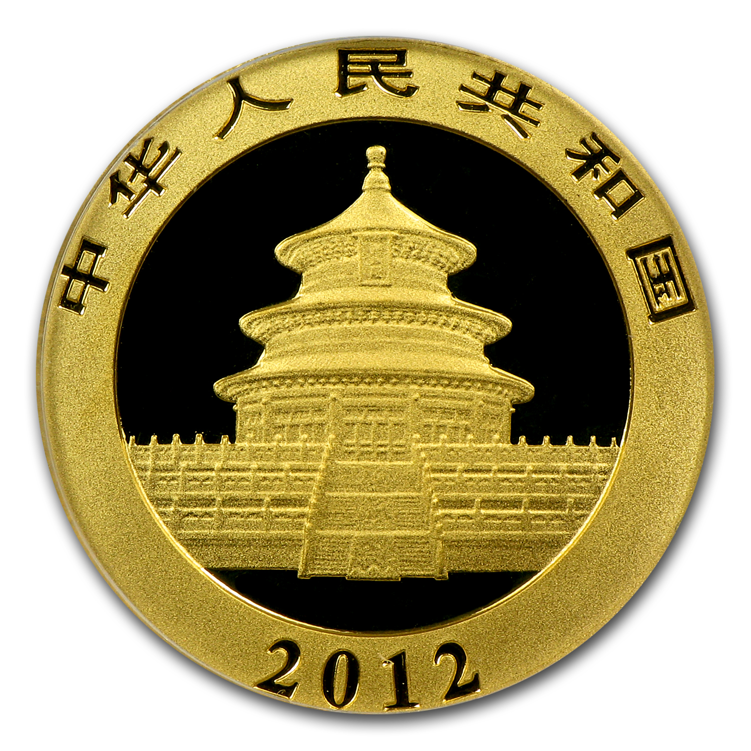 2012 China 1/10 oz Gold Panda MS-70 PCGS
