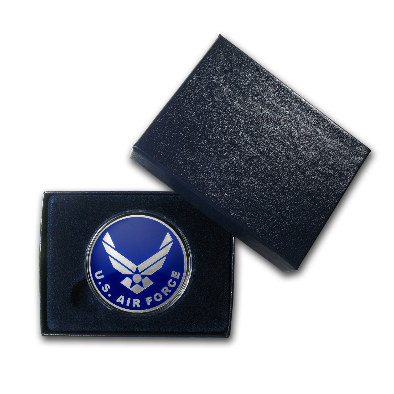 1 oz Silver Round - U.S. Air Force (Blue Enameled, w/Box & Cap)