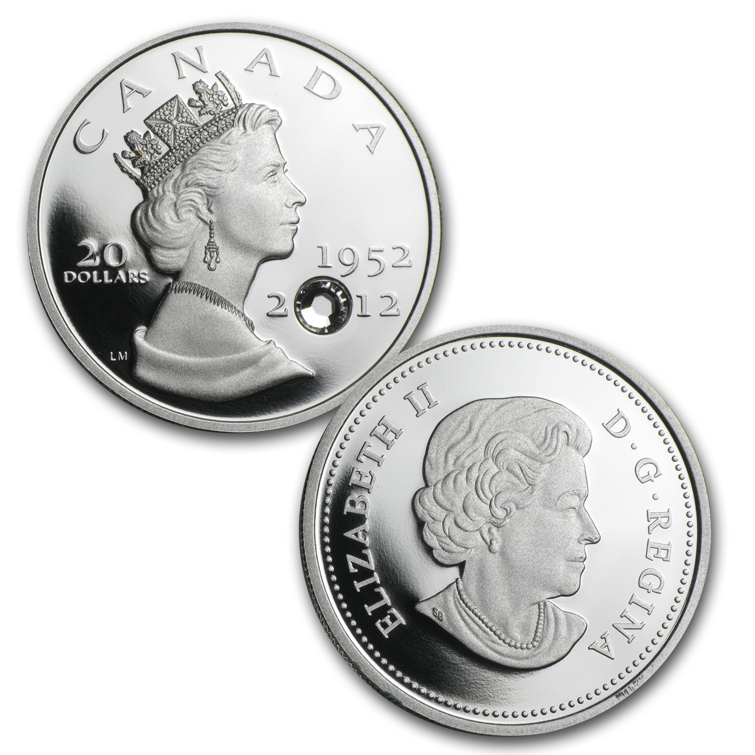 2012 Can 3-Coin 1 oz Silver $20 Diamond Jubilee 60th Anniv. Set