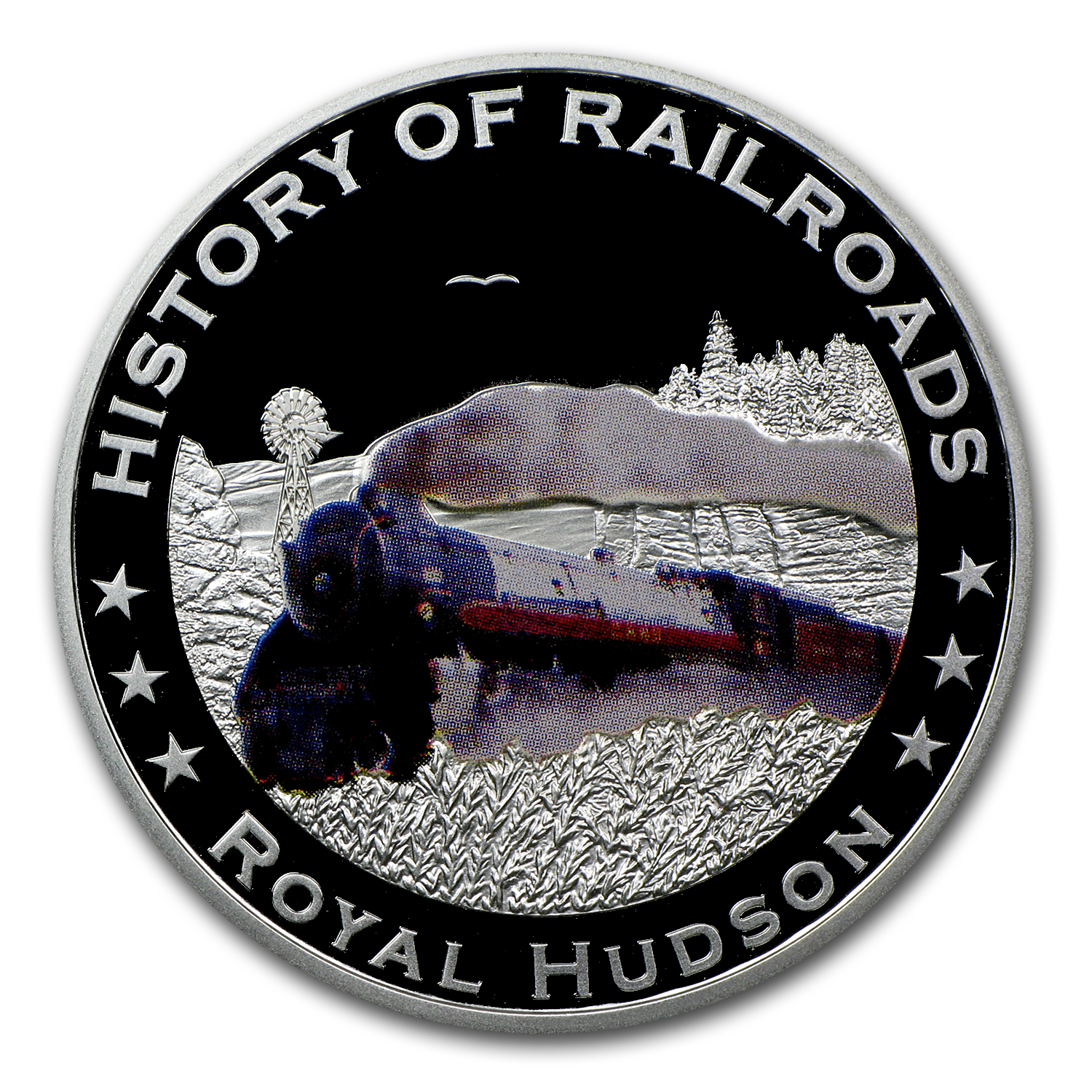 2011 Liberia Silver $5 Royal Hudson Train Proof