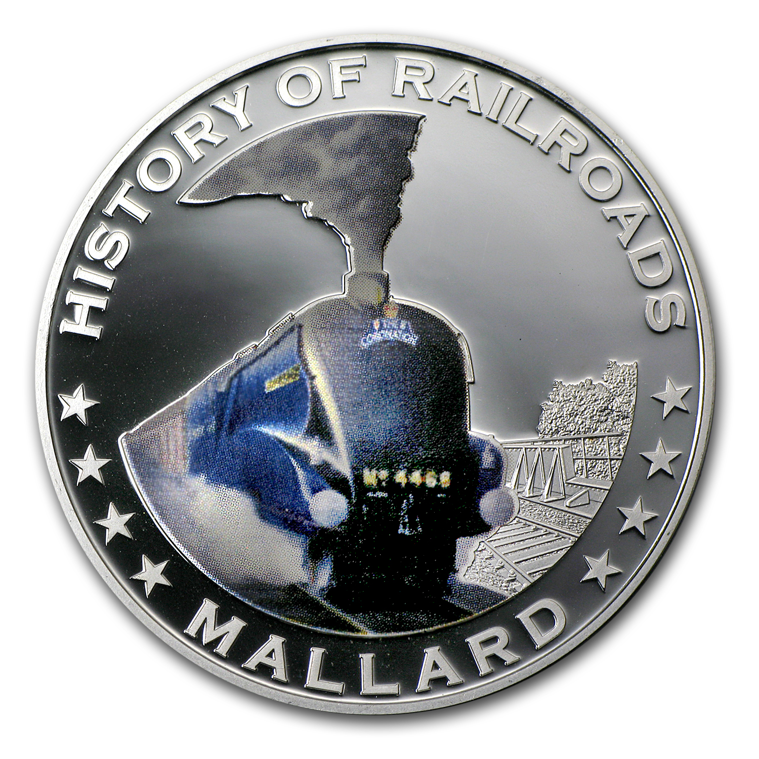 Liberia 2011 Proof Silver 5 Dollars - Mallard Locomotive
