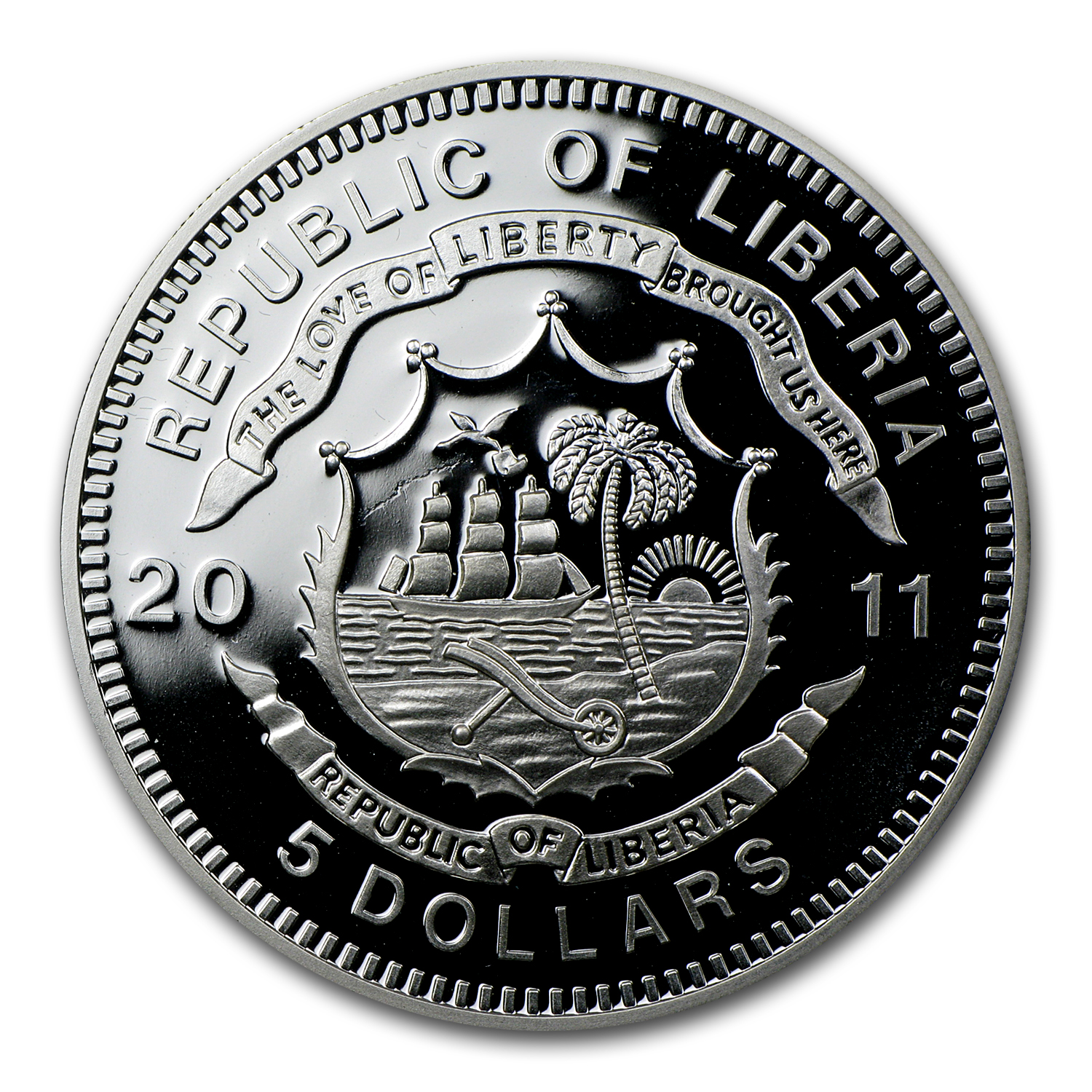 2011 Liberia Silver $5 Imperial Royal Locomotive Train Proof