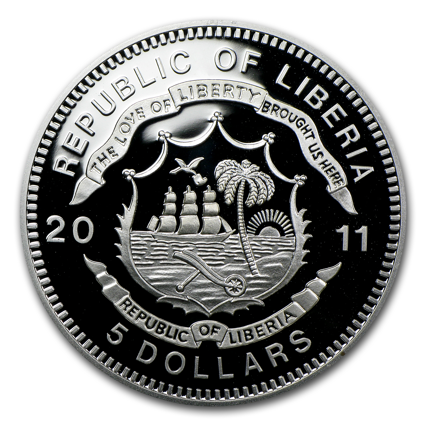 Liberia 2011 5 Dollars Silver Proof - Trans-Siberian Railroad