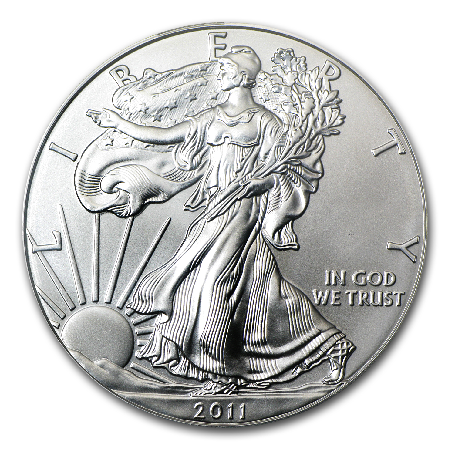 2011-S Silver Eagle - MS-69 PCGS - 25th Anniv - Black Label