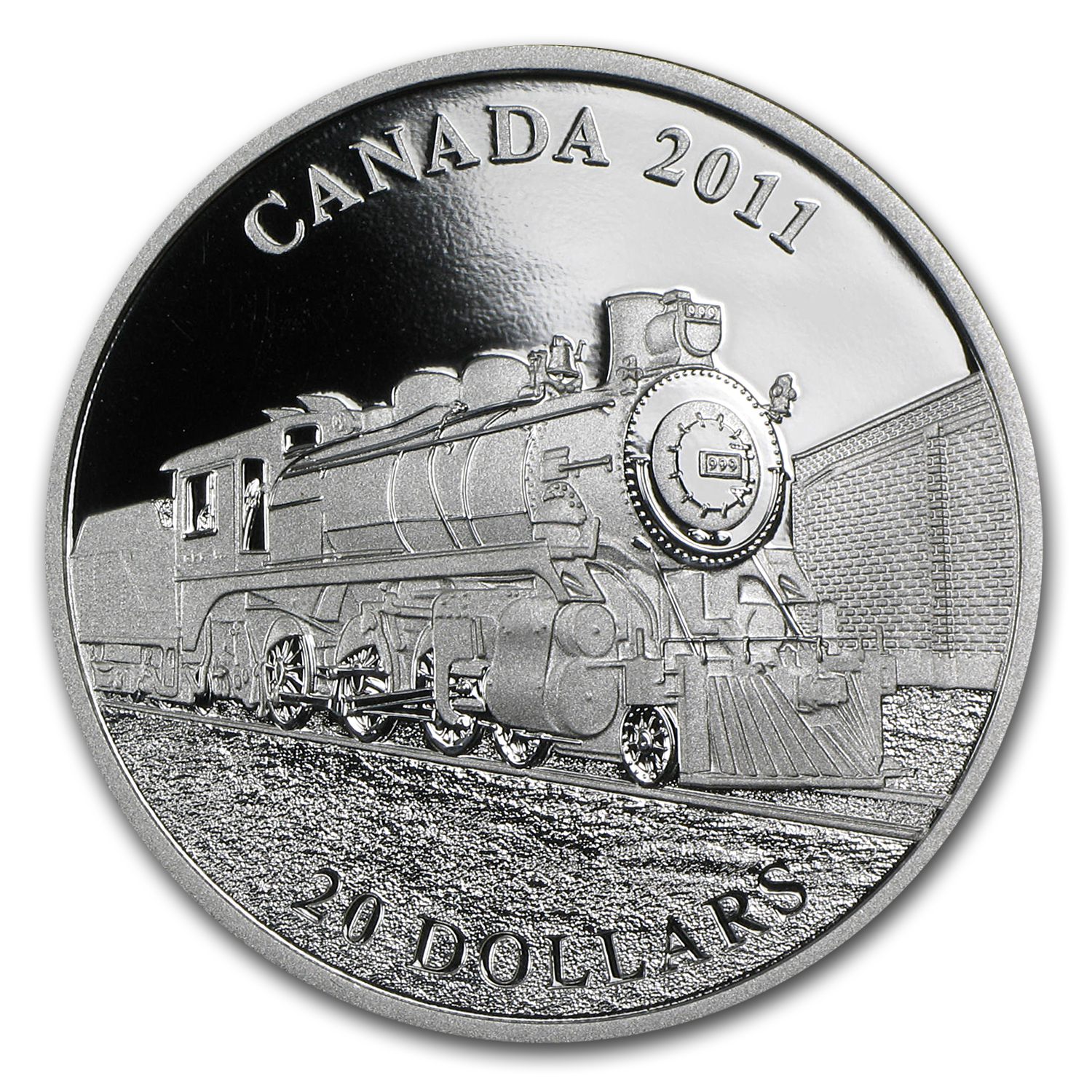 2011 1 oz Silver Canadian $20 Great Locomotives D-10 (w/Box)