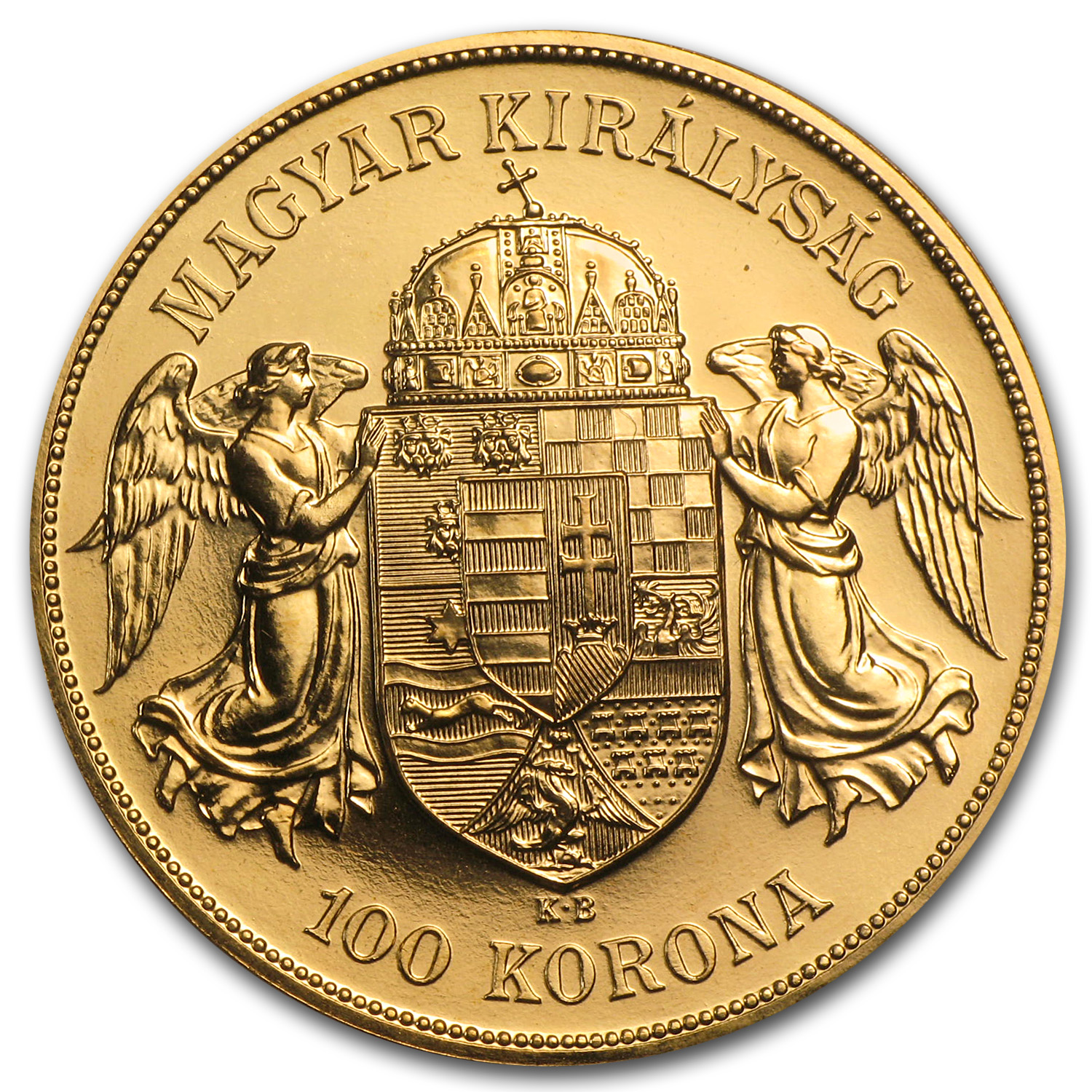 1908 Hungary Gold 100 Korona Choice BU (Restrike)