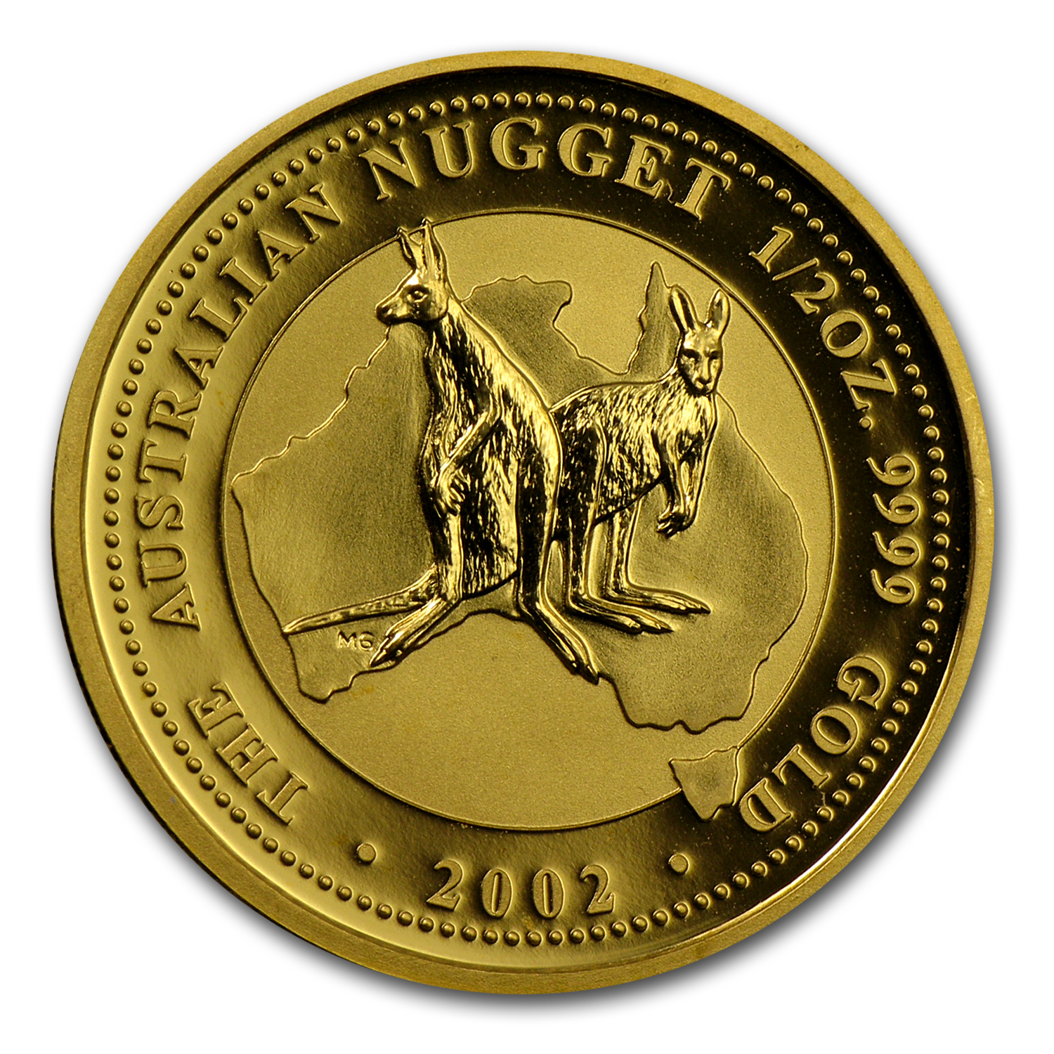 2002 1/2 oz Australian Gold Nugget