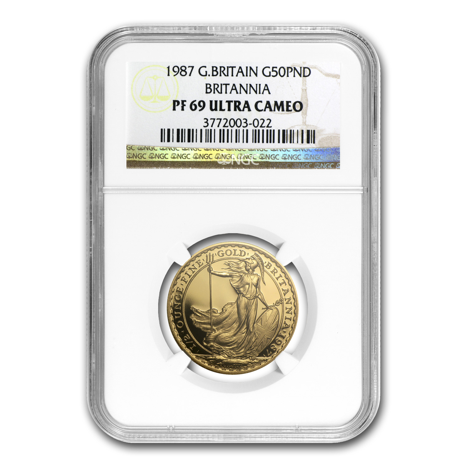 1987 1/2 oz Proof Gold Britannia PF-69 UCAM NGC