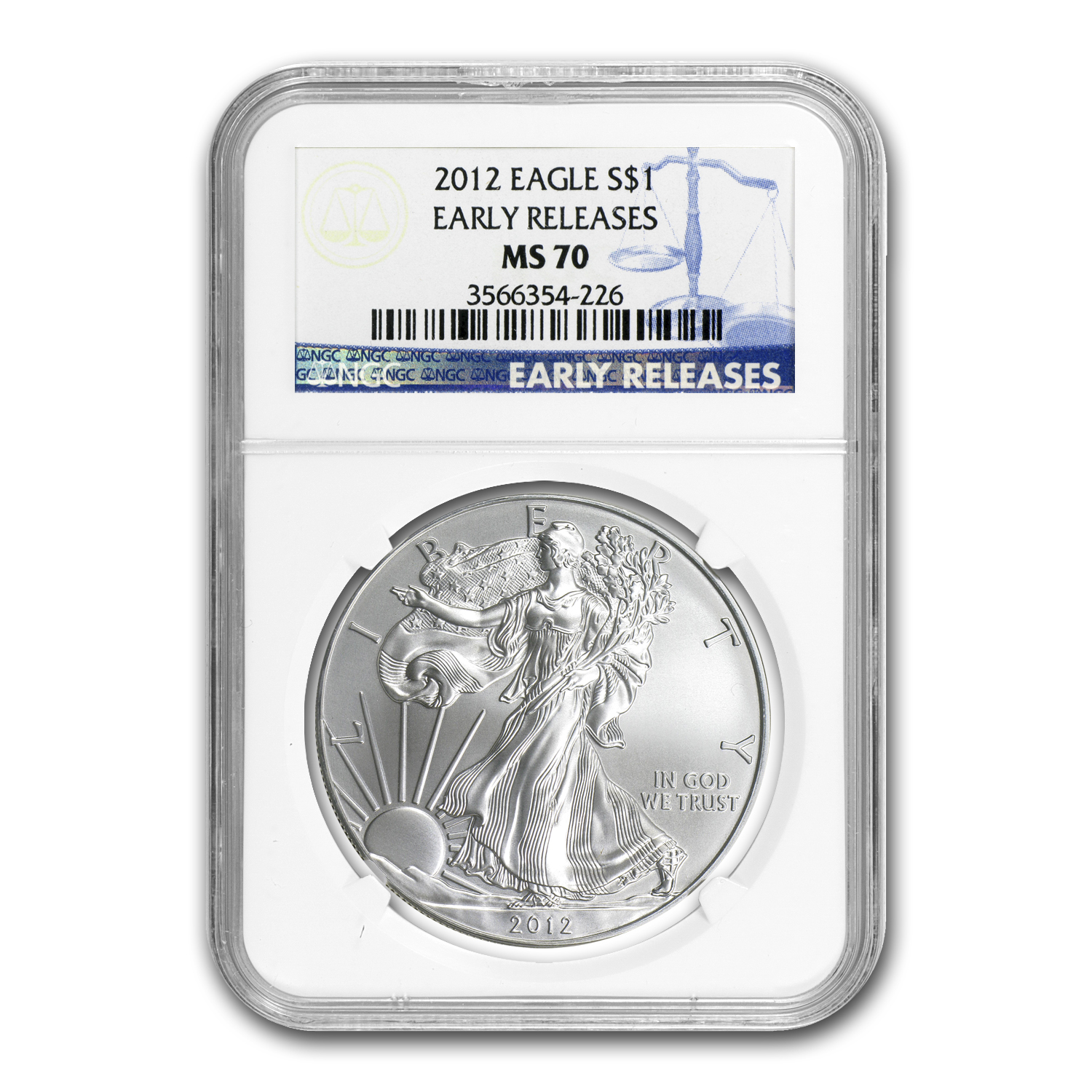 2012 Silver American Eagle MS-70 NGC (Early Releases)