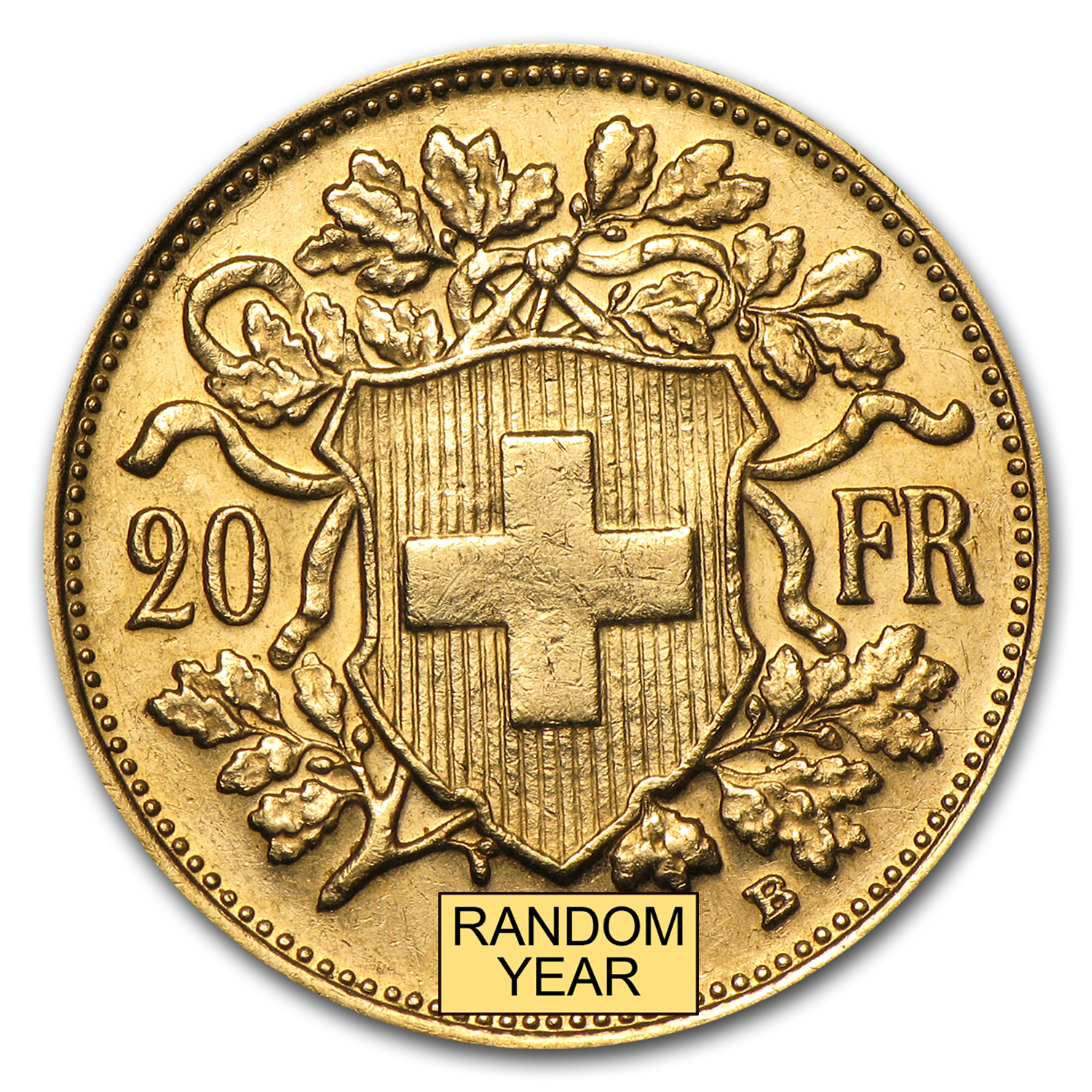 1904-1907 Switzerland Gold 20 Francs Helvetia AU/BU (Random)