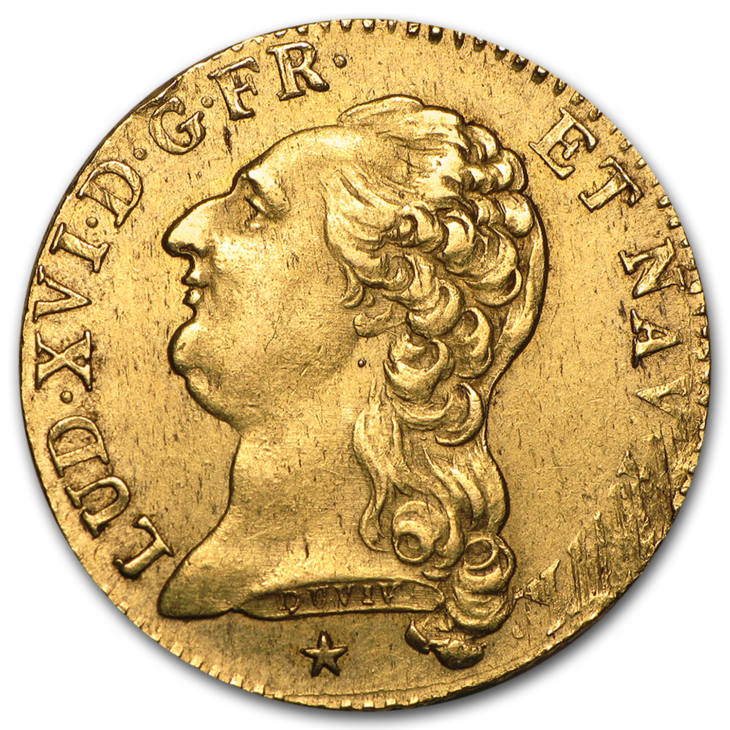 1786-W France Gold Louis D'or XF Details