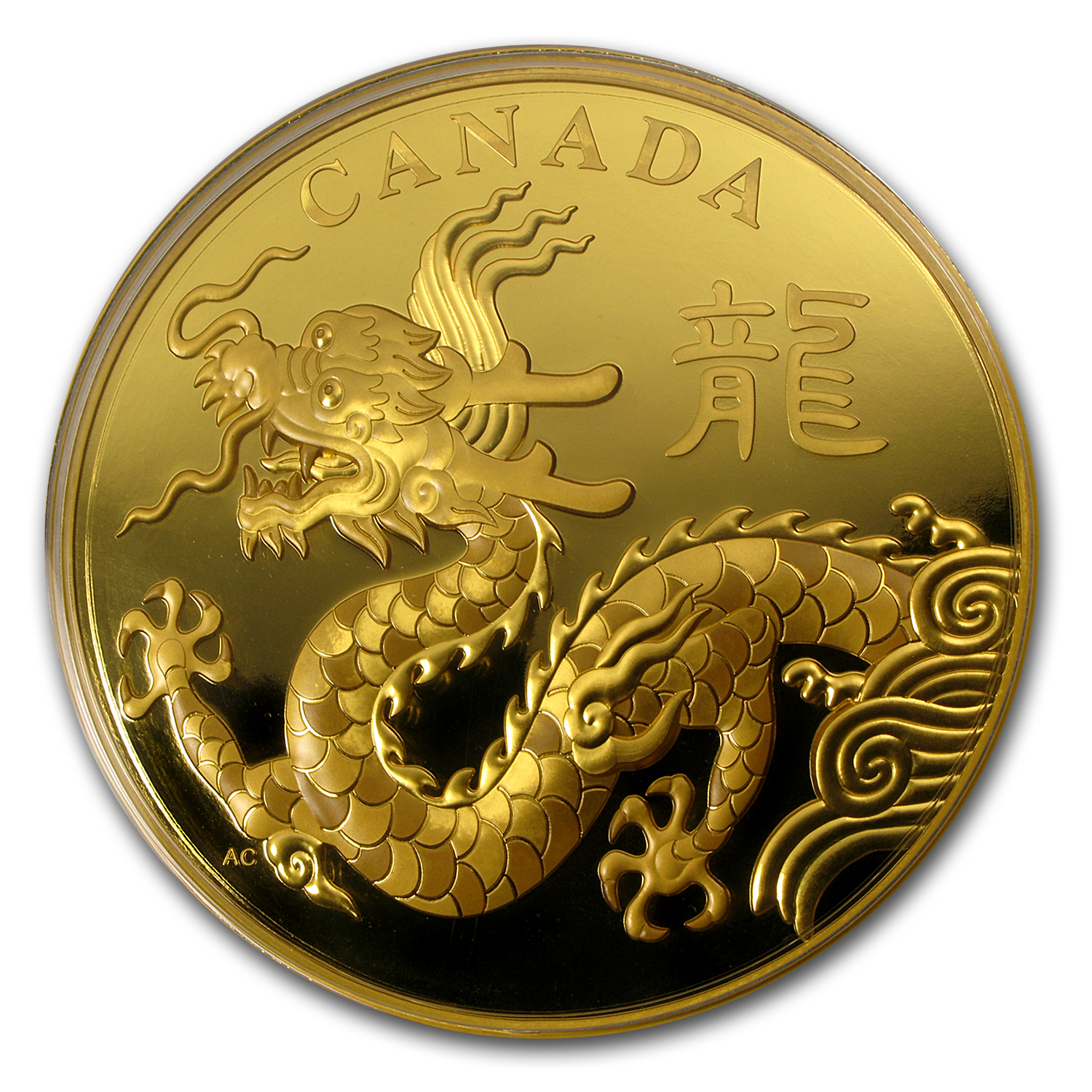 2012 Gold 1 Kilo Canadian $2,500 Year of the Dragon Proof