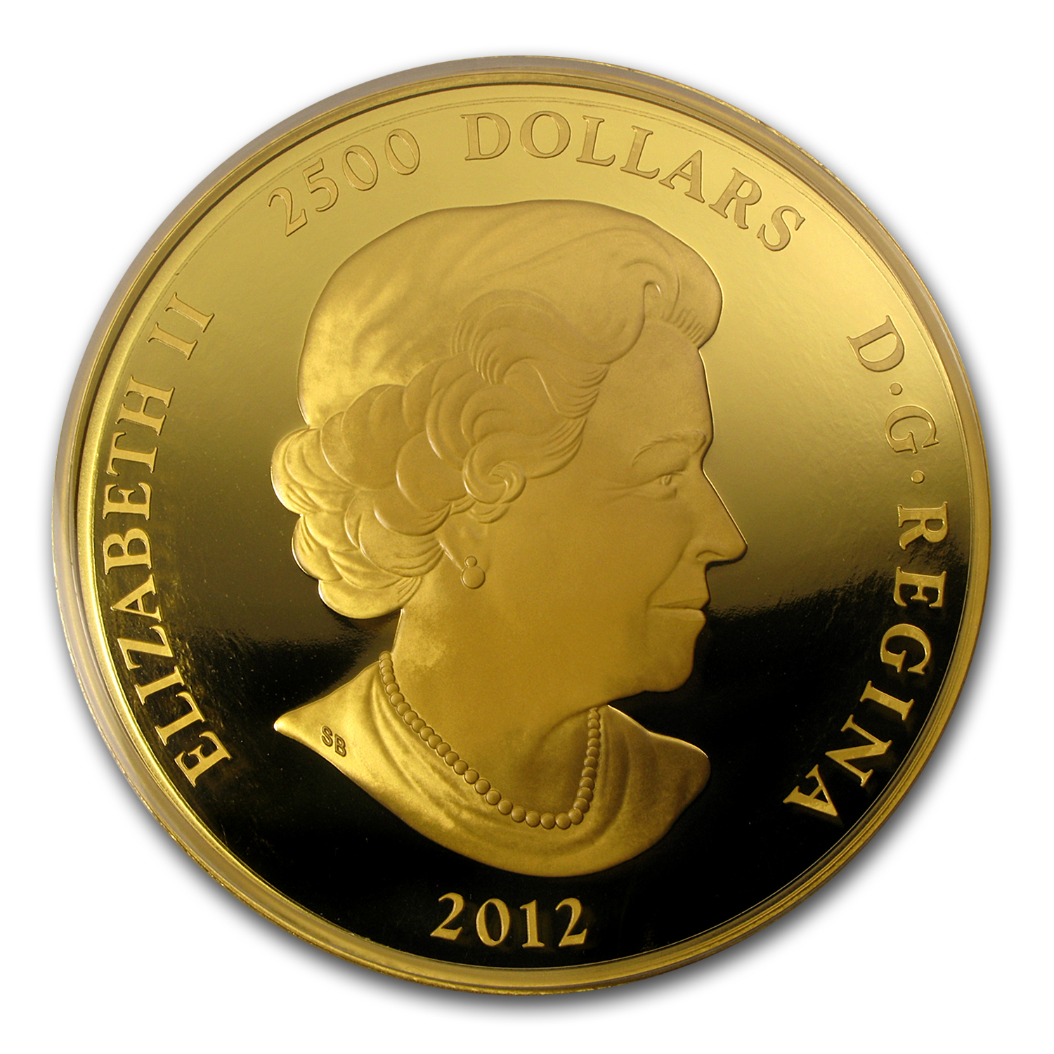 2012 Canada 1 kilo Gold $2,500 Year of the Dragon Proof
