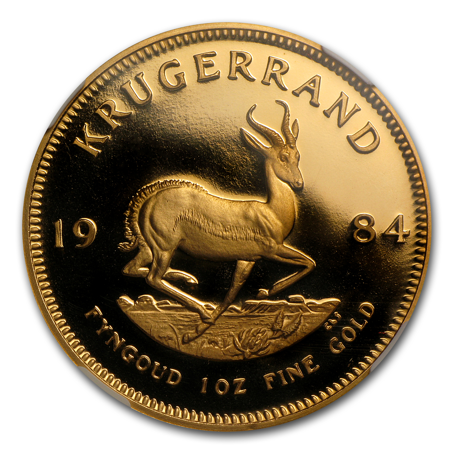 1984 1 oz Gold South African Krugerrand PF-69 NGC
