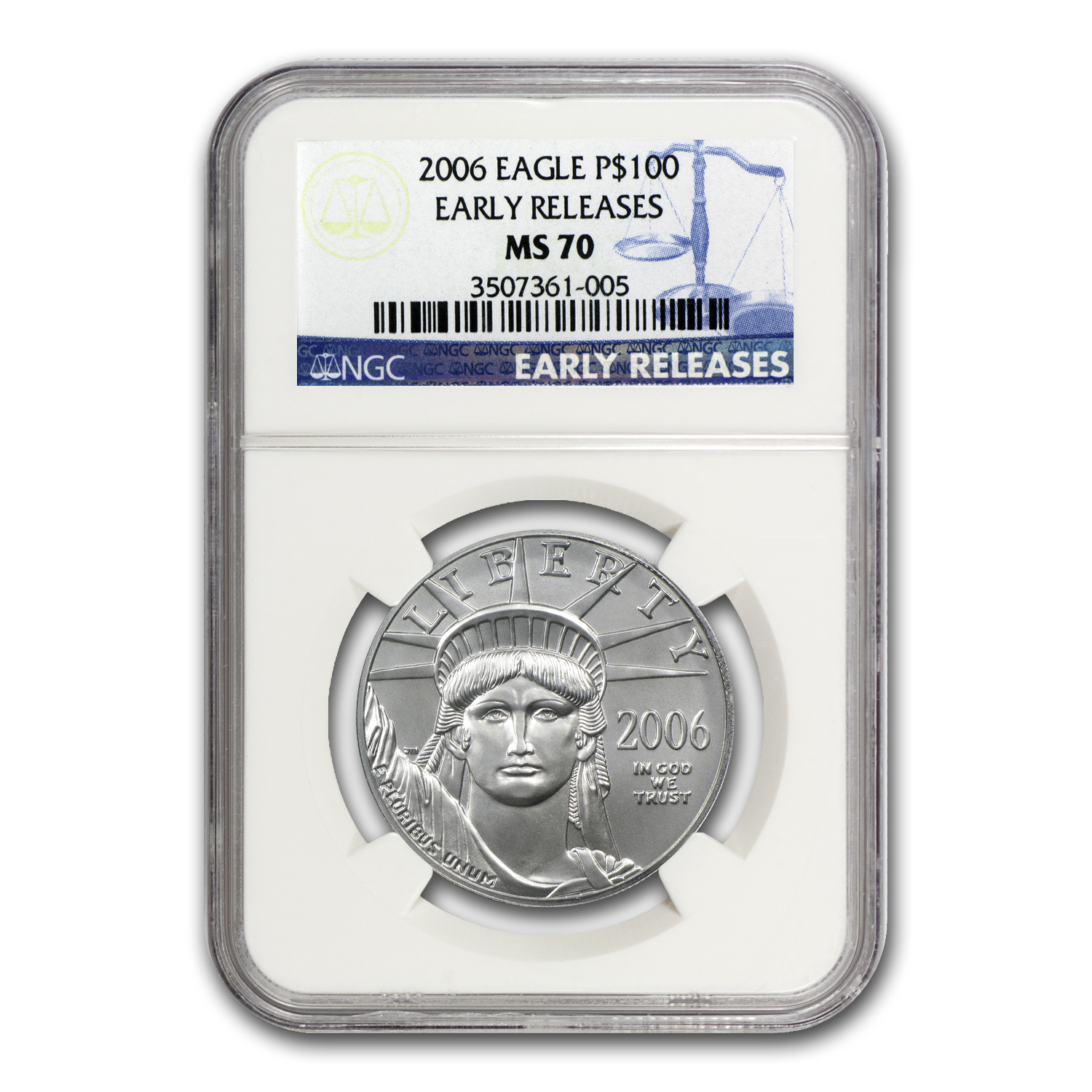 2006 1 oz Platinum American Eagle MS-70 NGC (ER)