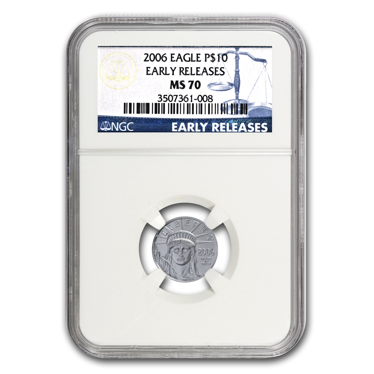 2006 1/10 oz Platinum American Eagle MS-70 NGC (ER)