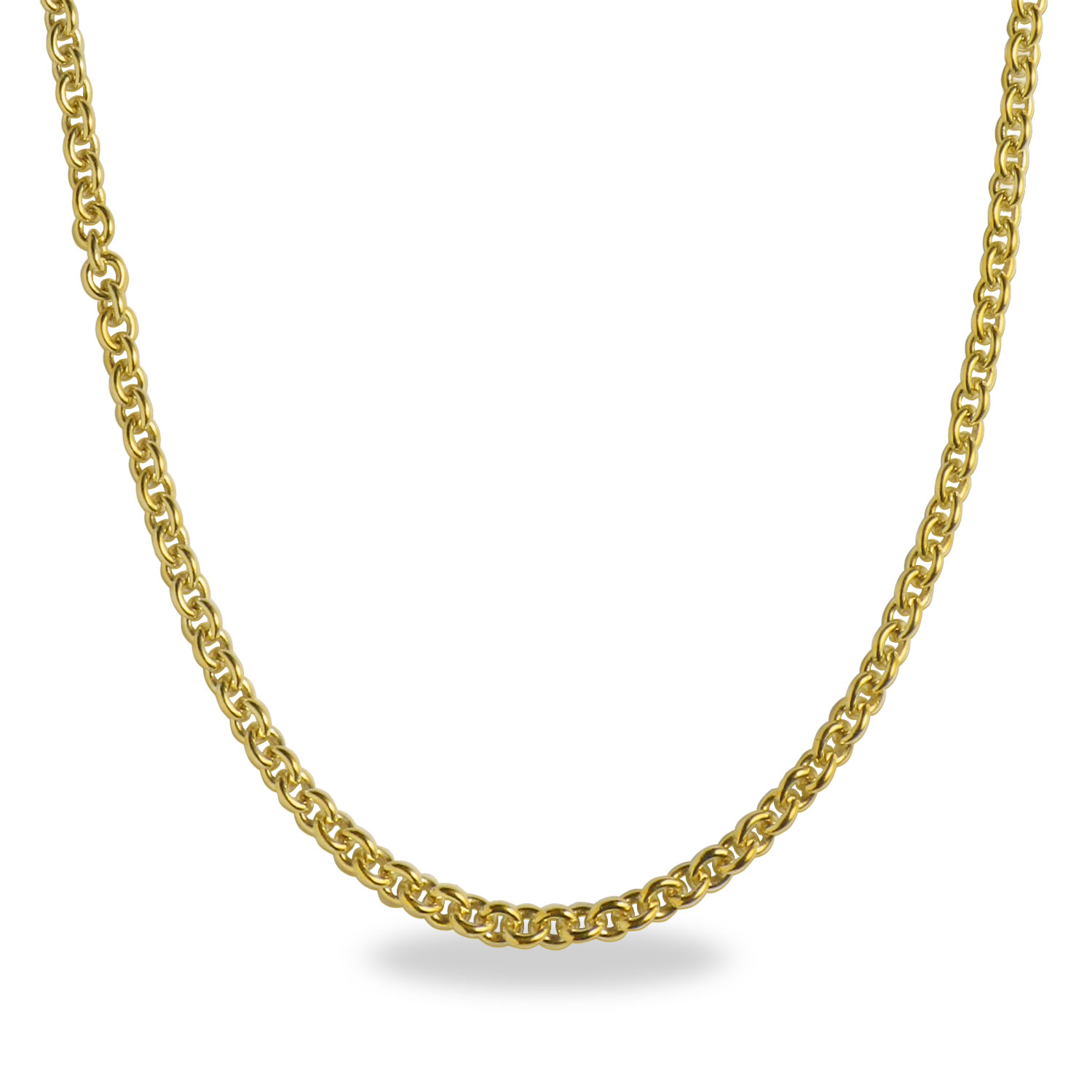 Cable 14k Gold Necklace - 18 in.