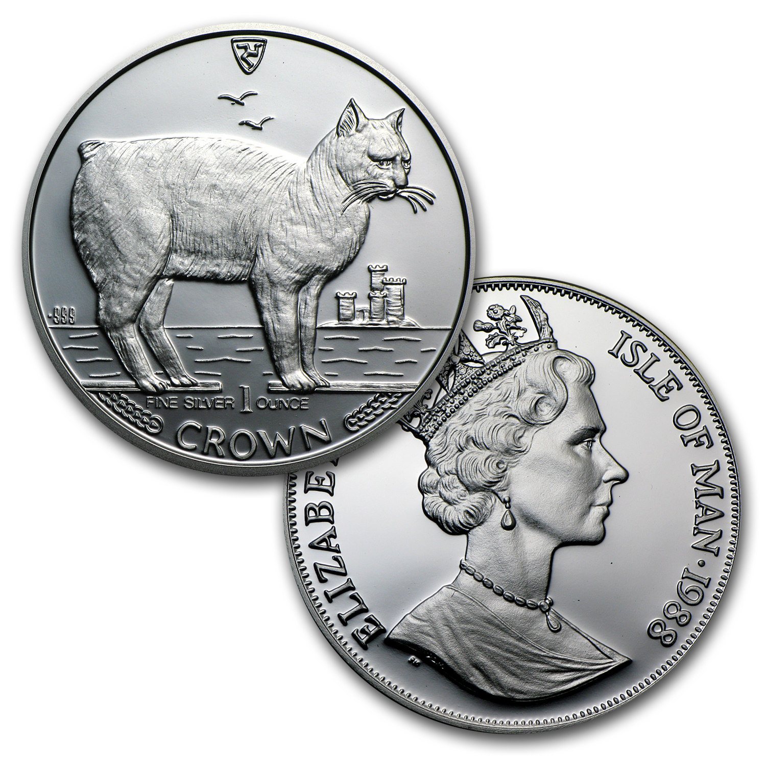Isle of Man 24-Coin 1 oz Silver Cats Proof Set