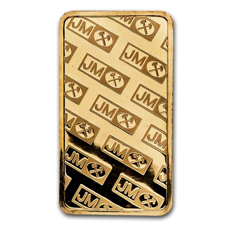 5 Gram Gold Bar Johnson Matthey Logo Back Johnson