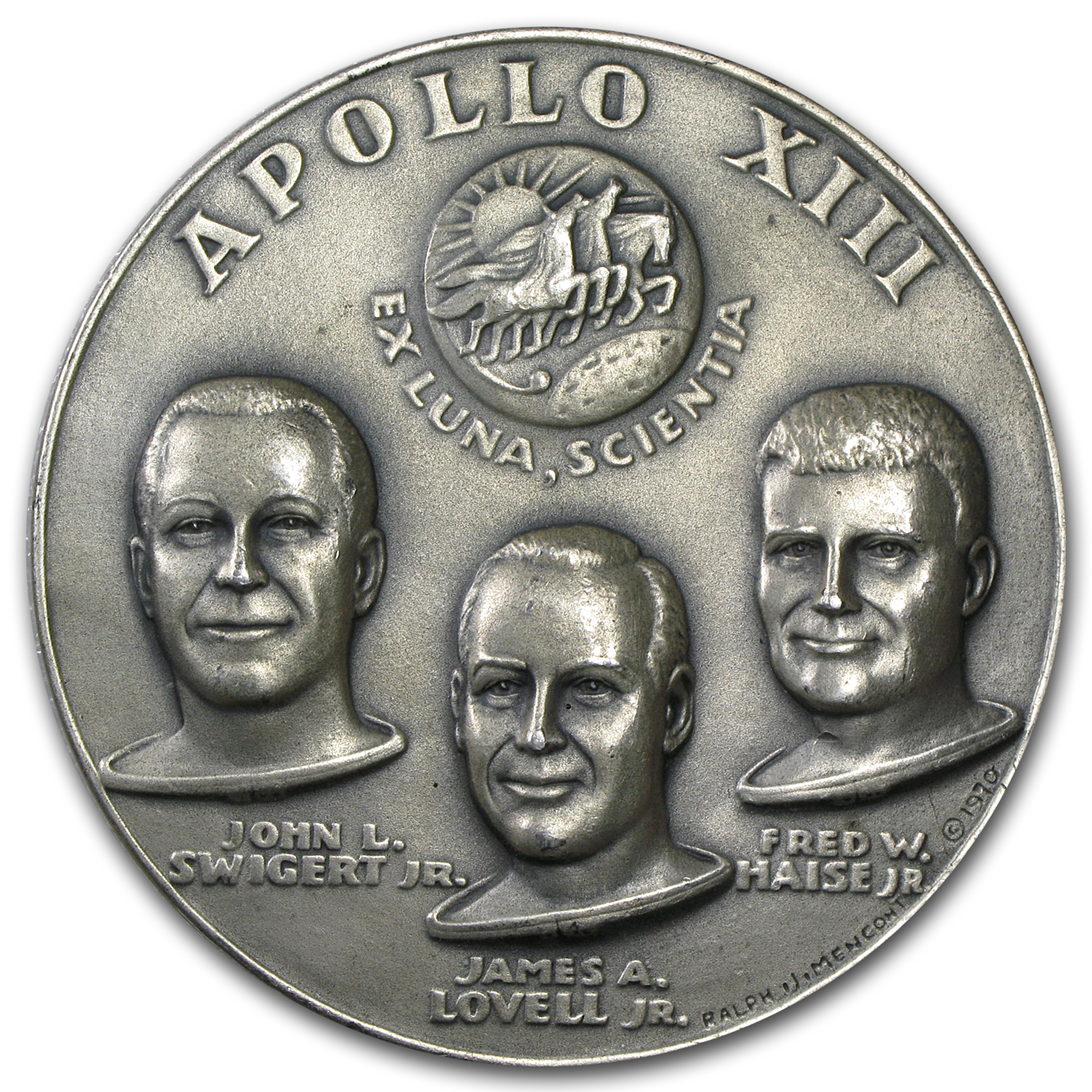 4.835 oz Silver Rounds - APOLLO 13