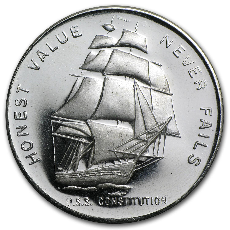 1 Oz Silver Round U S S Constitution Ship 1 Oz