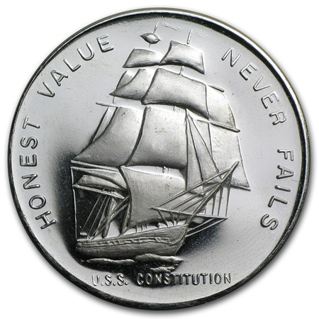 1 Oz Silver Round U S S Constitution Ship 1 Oz
