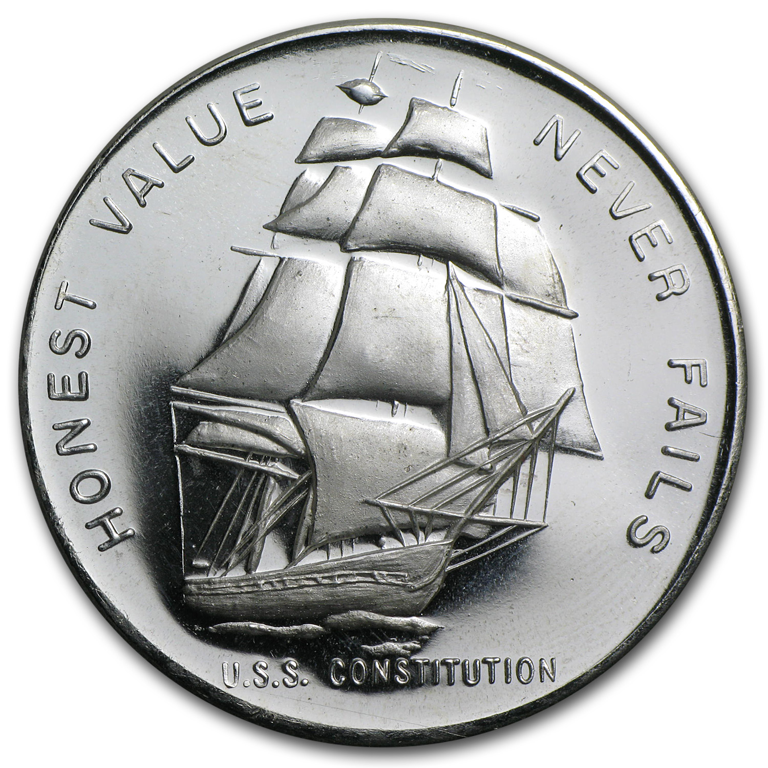 1 oz Silver Rounds - U.S.S. Constitution Ship