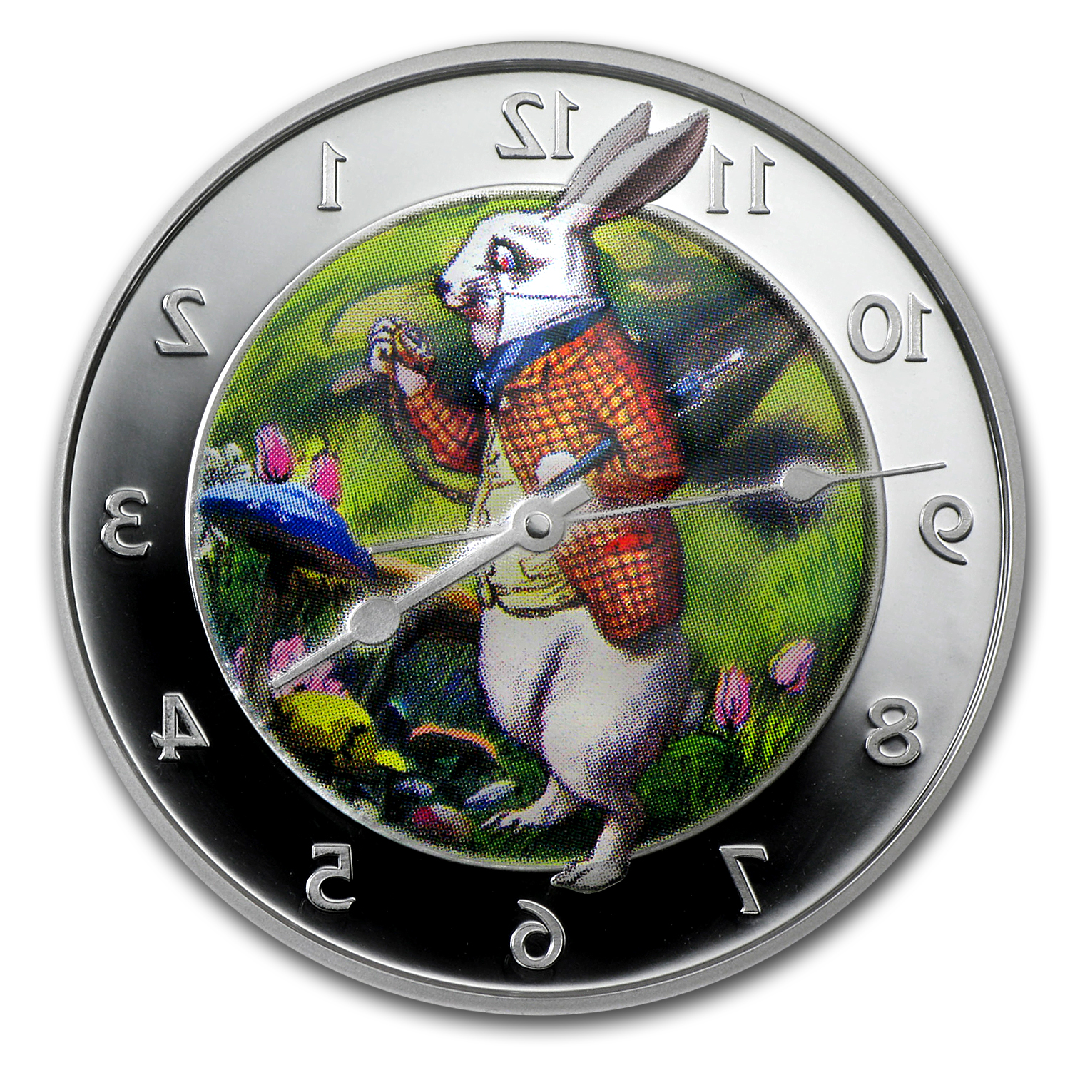 2011 1 oz Silver Pitcairn Island $2 Wonderland Rabbit (Box & COA)