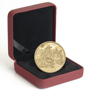 2012 Gold Canadian $100 Cariboo Gold Rush - 150th Anniv. (W/Box)